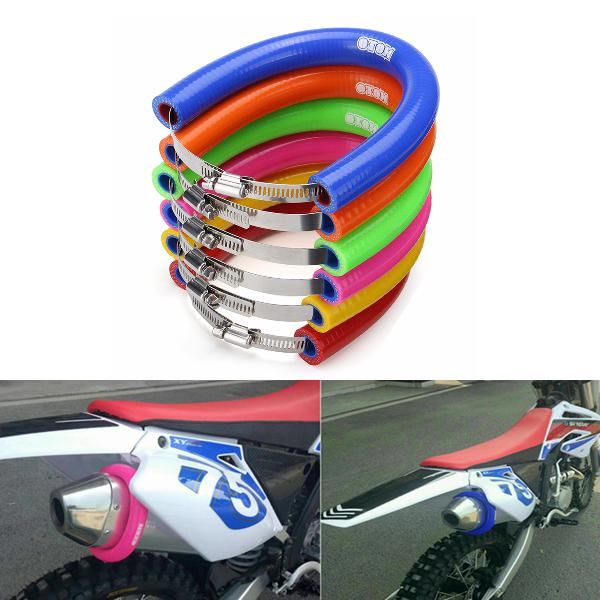 Universal motorcycle exhaust muffler protector can cover