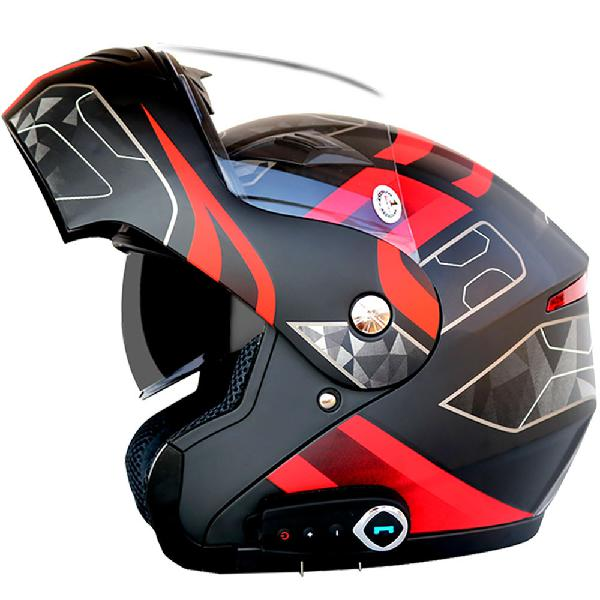 Waterproof motorcycle full face helmet with bluetooth music