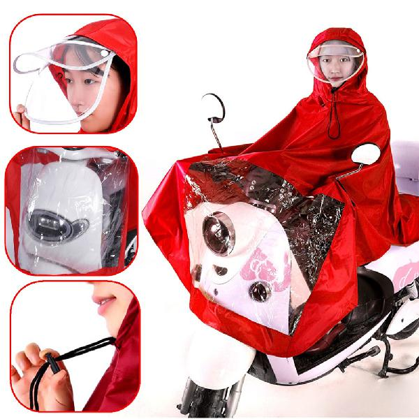 Waterproof motorcycle riding raincoat cover one-piece double