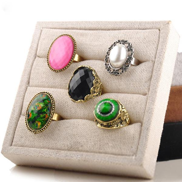 1 pcs ice velvet ring earrings display stand jewelry tray