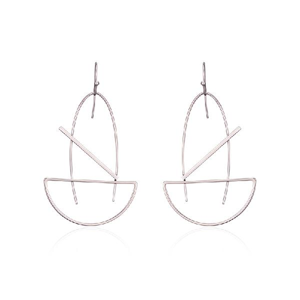 Fashion platinum plated geometric dangle earrings simple
