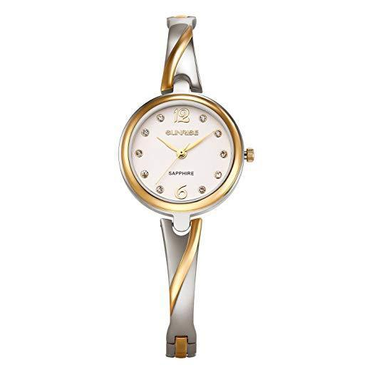 Lady bracelet wrist quartz watch stainless steel with