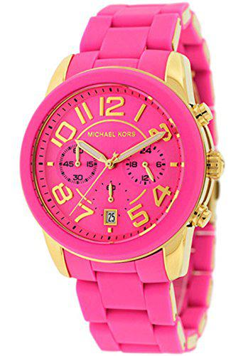 Michael kors women's mk5890 chronograph mercer pink silicone
