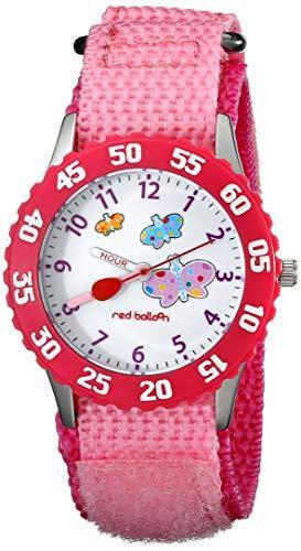 Red balloon girls' stainless steel pink time teacher watch