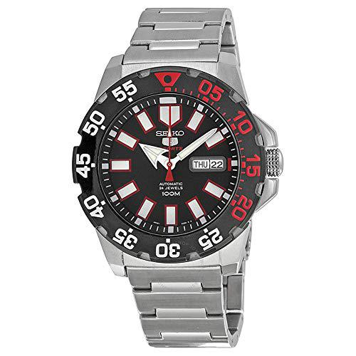 Seiko men 5 sports monster automatic black dial stainless