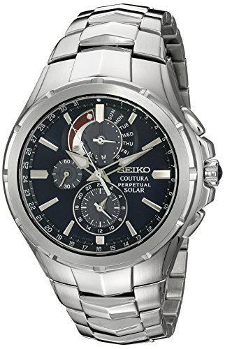 Seiko men's ssc375 coutura solar perpetual chrono analog