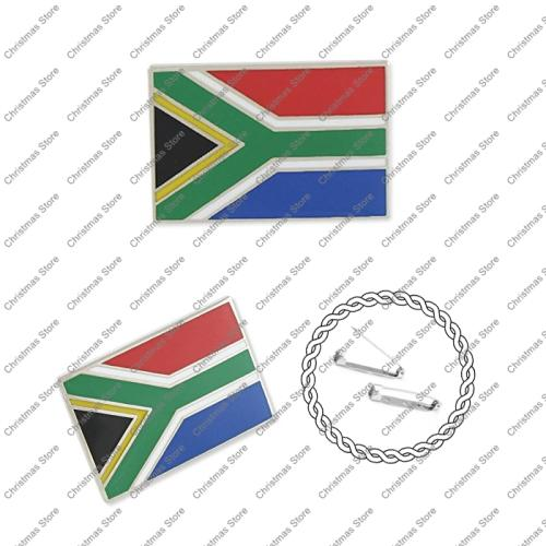 South african flag lapel brooch