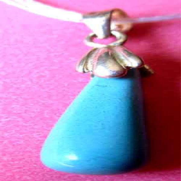Sterling Silver and Drop Turquoise Pendant
