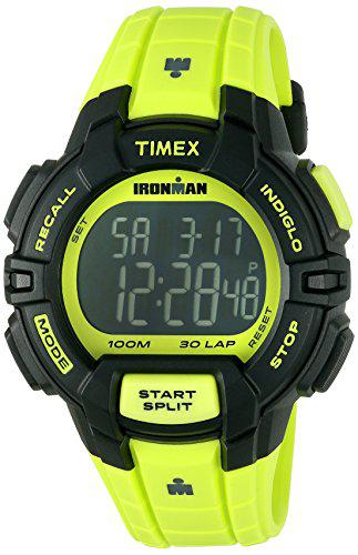 Timex men's tw5m02500 ironman rugged 30 neon green resin