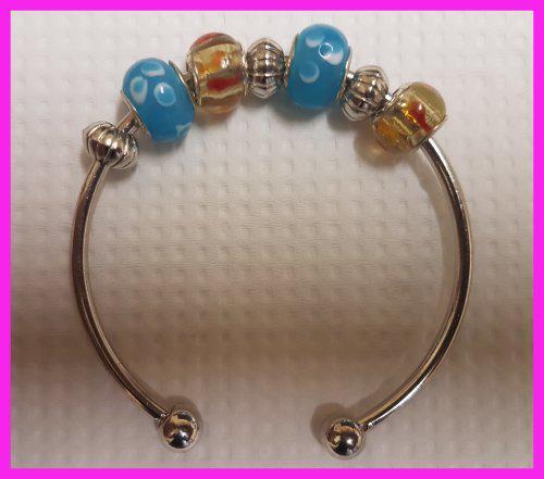 Fashion retro bohemian silver p copper beades charm bracelet