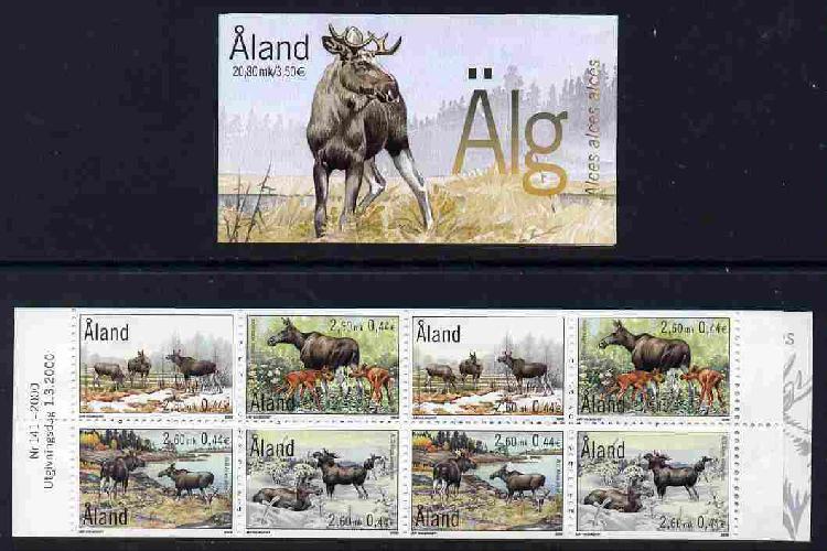 Booklet - Aland Islands 2000 The Elk 20m80 booklet complete
