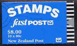 Booklet - New Zealand 1993 Falcon $8.00 booklet complete &
