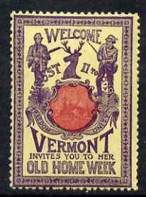 Cinderella - United States 1901 Vermont Old Home Week, perf