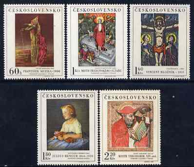 Czechoslovakia 1969 Art (4th issue) set of 5 unmounted mint,