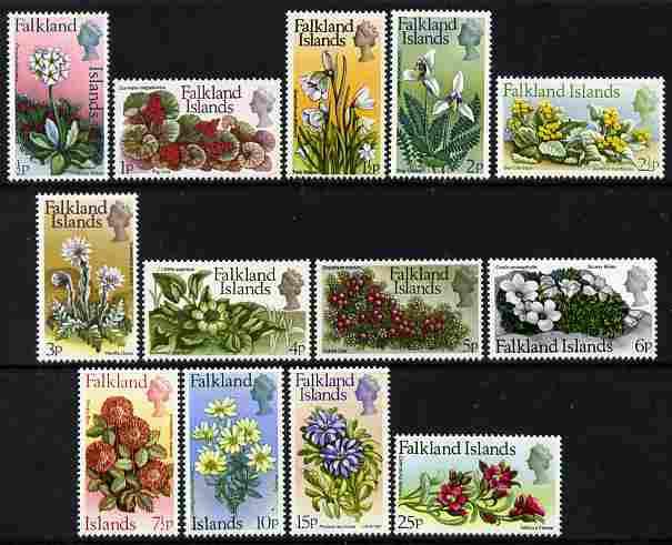 Falkland Islands 1972 Flower definitive set complete 13