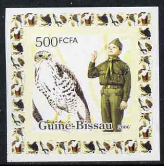 Guinea - bissau 2006 scouts & birds of prey #2 individual