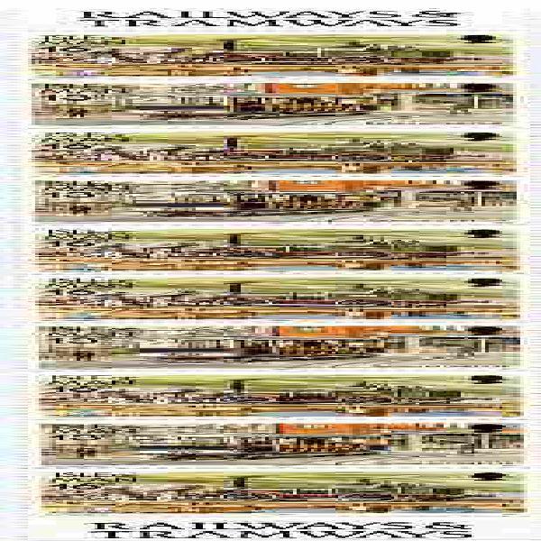 Isle of man 1988-92 manx railways & tramways booklet pane