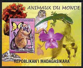 Madagascar 1999 Animals of the World #09 perf m/sheet