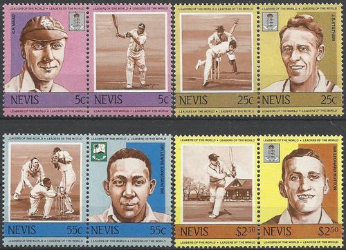Nevis 1984 - krieket stel / cricket set (8) omnibus i/ii -