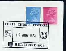 Postmark - Great Britain 1973 cover bearing illustrated