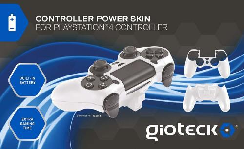 Gioteck: controller power skin (white) - ps4 (brand new)