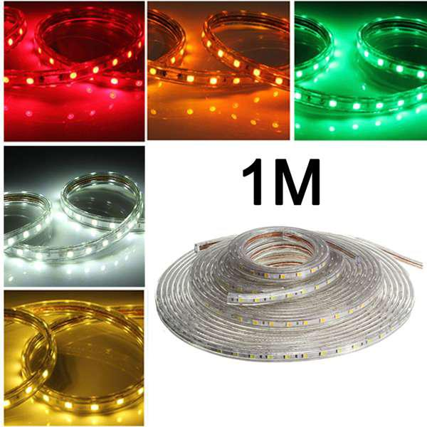 1m 5050 waterproof ip67 flexible led strip light for xmas