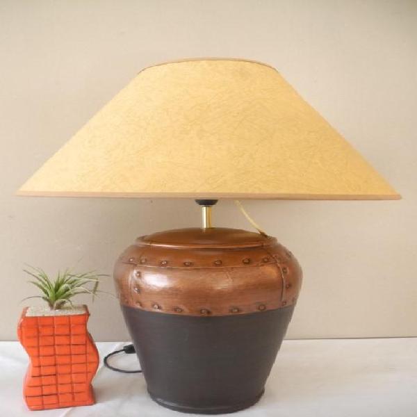 A modern, upmarket lightweight ceramic coffee table lamp