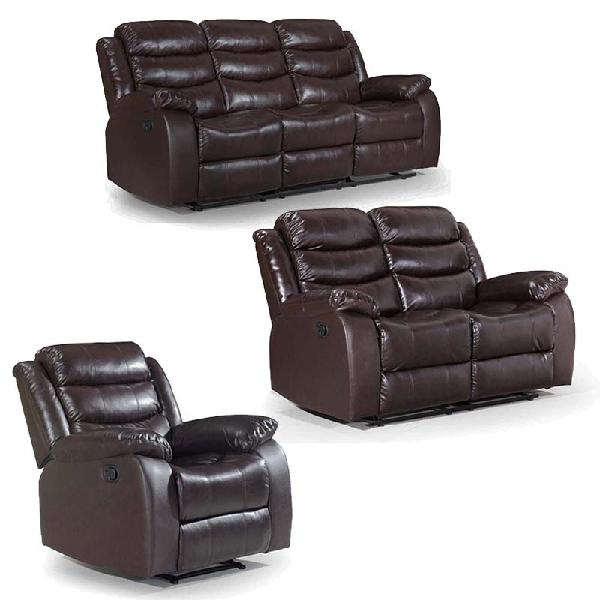 Couches recliner lounge suite set (brown)