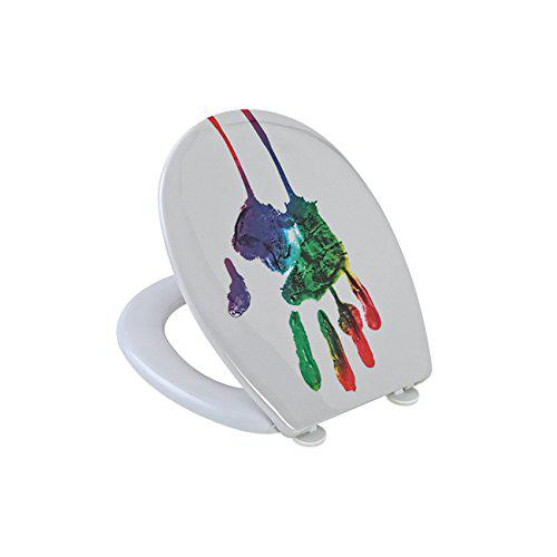 Feridras 875002thermoset toilet hand print, multi-coloured,