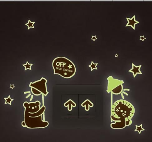 Glowing in the dark home decoration shiny star stickers