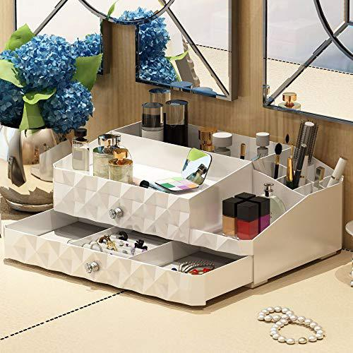 Maxkim makeup organizer jewelry and cosmetic storage, large