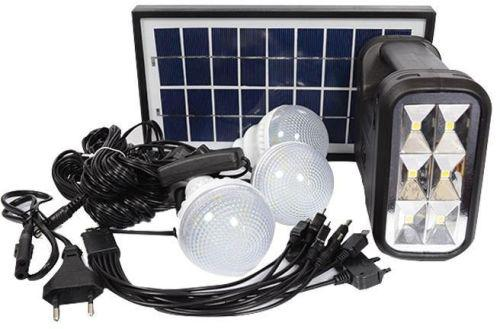 Mini solar lighting system with smd led light 3 light bulbs