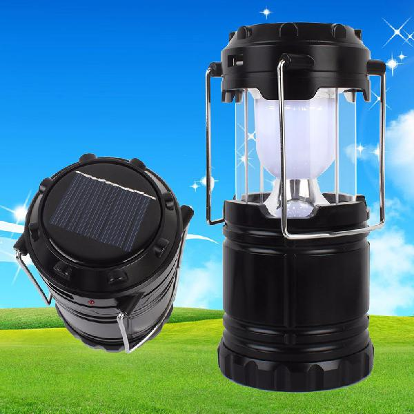 Rechargeable solar camping lantern