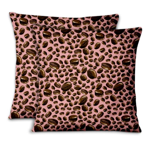 S4sassy cushion cover coffee beans food decorative throw