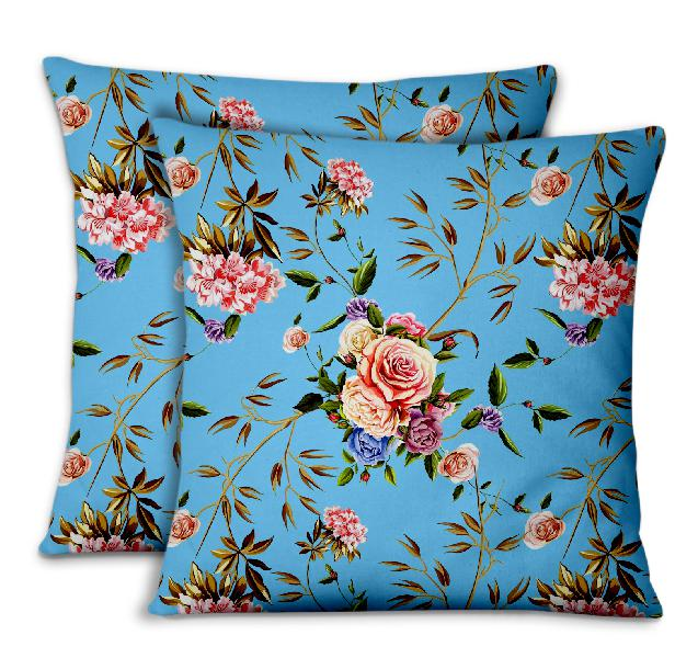S4sassy cushion cover oriental lily & rose floral home decor