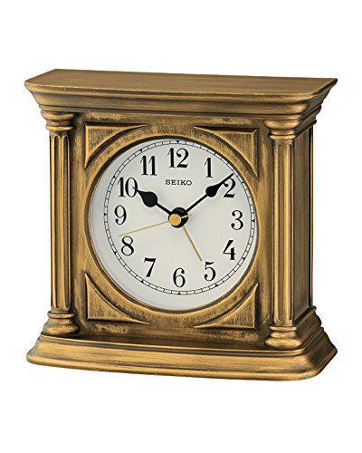 Seiko clocks qxe051g table clock with alarm
