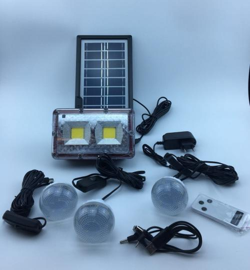 Solar floodlights system digital lighting kit