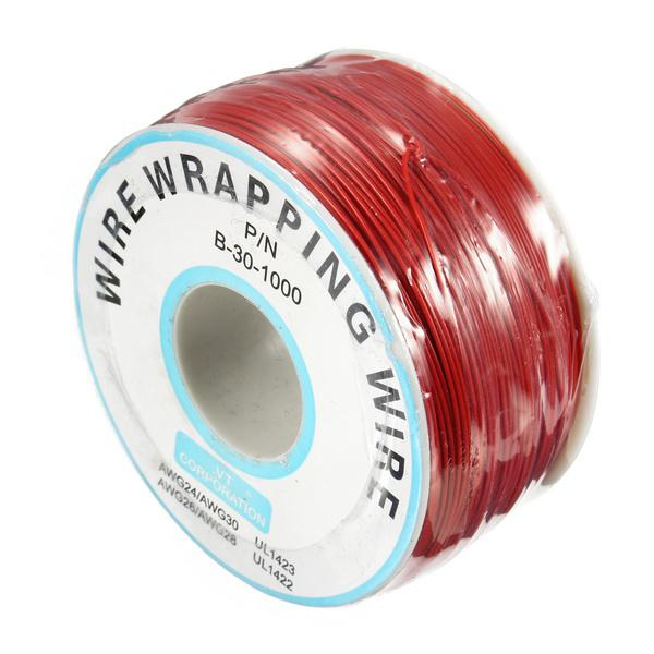 3pcs red 0.55mm circuit board single-core tinned copper wire