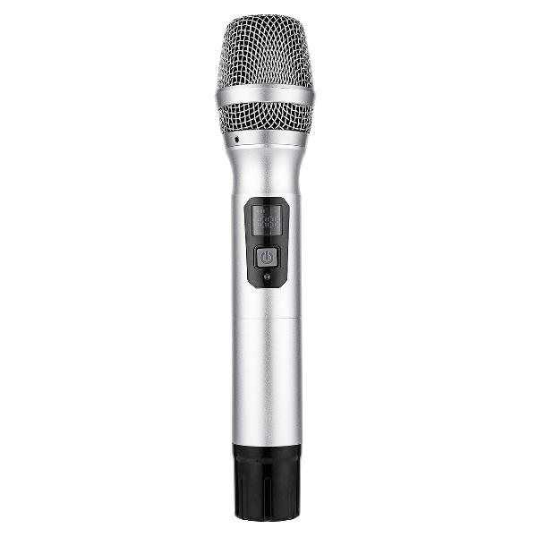 Uhf wireless dynamic microphone with receiver handheld mic
