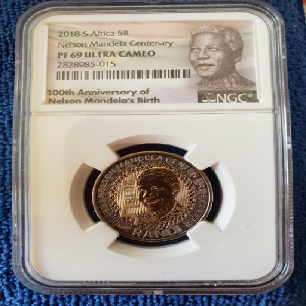 2018 south africa proof r5 - nelson mandela centenary- ngc