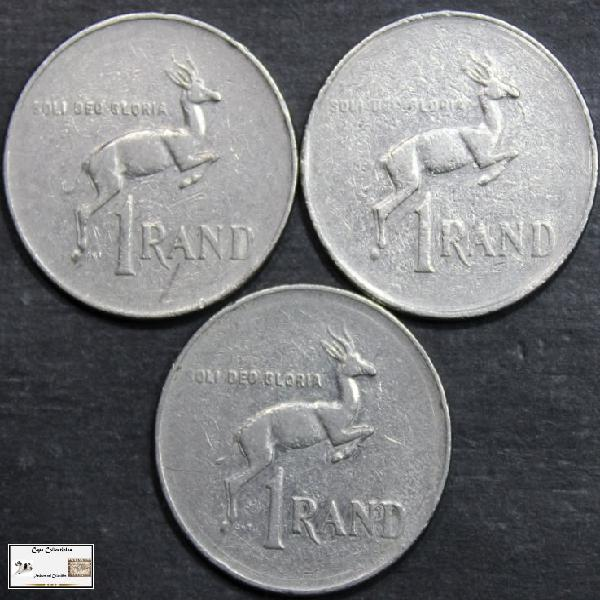 South africa 1 rand 3x1997 coin (three) vf20