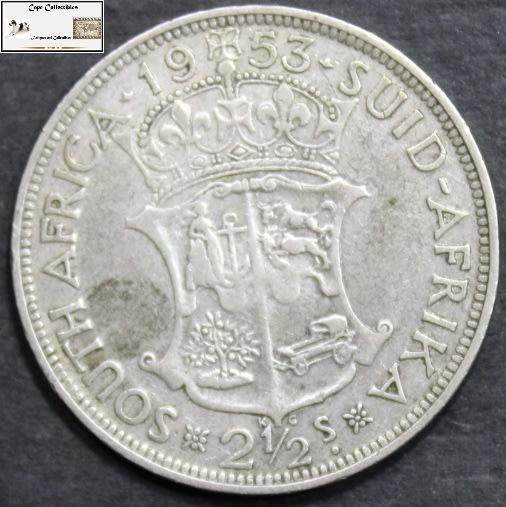 South africa 2 1/2 shilling 1953 coin f12