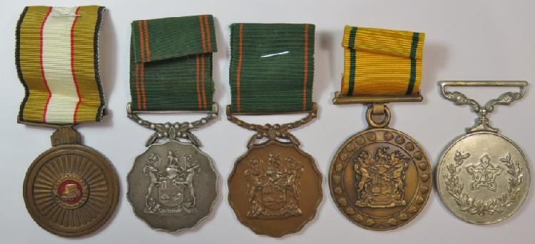 Lot of 5 medals issued to f. young 1976 railway police