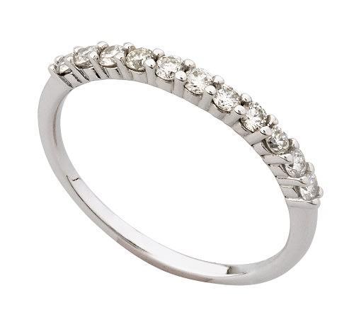 18k / 18ct white gold eternity ring: 0.50cttw diamonds, size