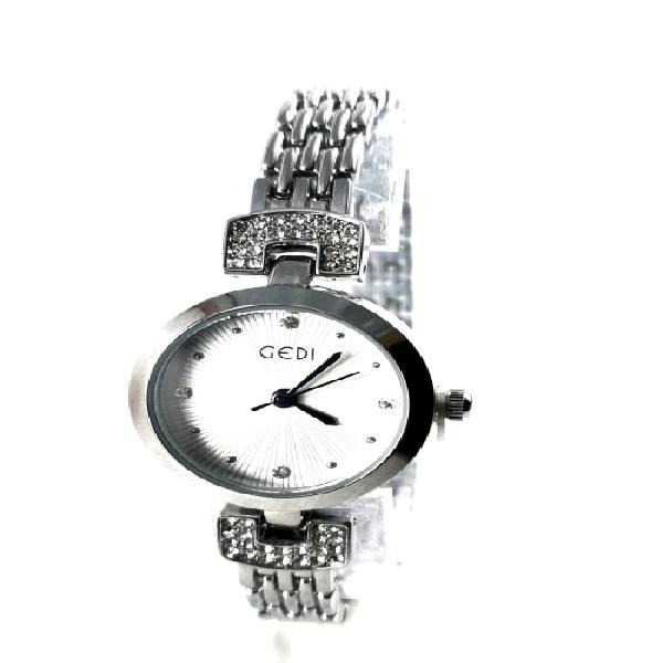 Beautiful ladies silver bangle watch