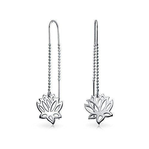 Bling jewelry sterling silver lotus flower modern dangle