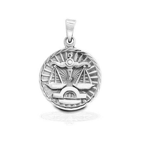 Bling jewelry sterling silver zodiac libra large medallion