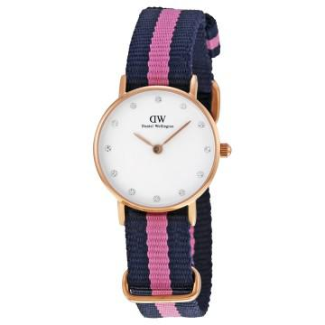 Daniel wellington classy winchester white dial blue and pink
