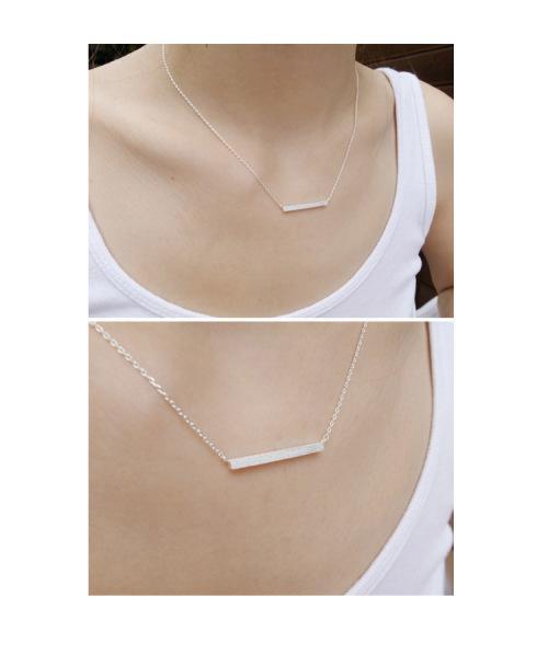 Fashion bar necklaces - silver, gold
