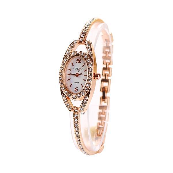 Fashion ladies wrist watch rhinestones dial alloy women